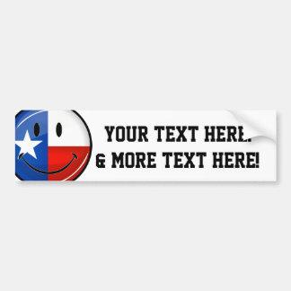 Autocollant De Voiture Drapeau de sourire du Texas