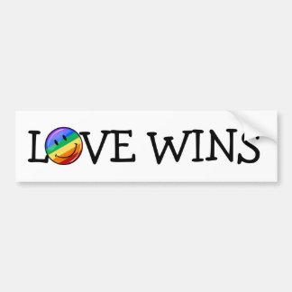 Autocollant De Voiture Drapeau de sourire rond brillant de gay pride