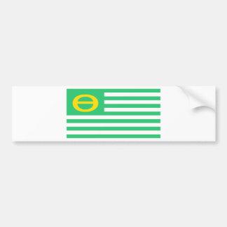 Autocollant De Voiture Drapeau d'écologie - thêta vert des Etats-Unis