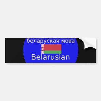 Autocollant De Voiture Drapeau du Belarus et conception de langue