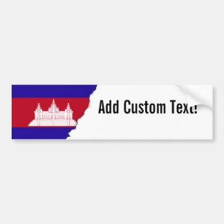 Autocollant De Voiture Drapeau du Cambodge