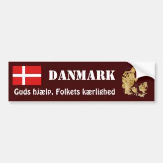 Autocollant De Voiture Drapeau du Danemark + Adhésif pour pare-chocs de