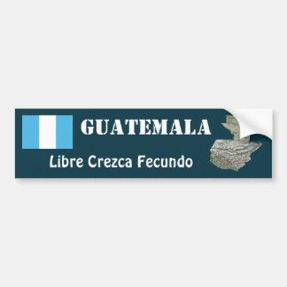 Autocollant De Voiture Drapeau du Guatemala + Adhésif pour pare-chocs de