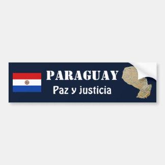 Autocollant De Voiture Drapeau du Paraguay + Adhésif pour pare-chocs de