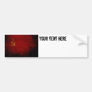 Autocollant De Voiture Drapeau grunge noir d'Union Soviétique