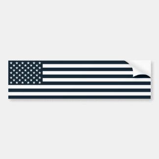 Autocollant De Voiture Drapeau noir et blanc patriotique américain