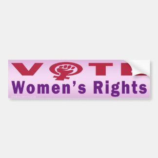 Autocollant De Voiture Droits de la femme de vote 1 adhésif pour
