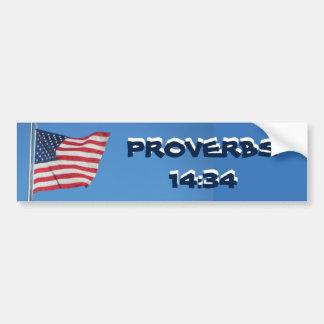 Autocollant De Voiture Droiture de 14h34 de proverbes de drapeau des