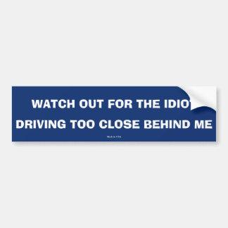 Autocollant De Voiture Drôle conduisant l'adhésif pour pare-chocs trop