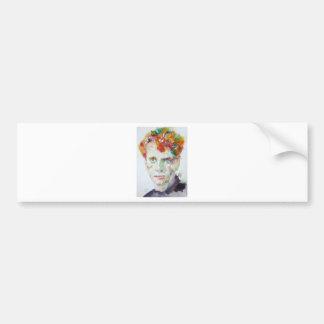 Autocollant De Voiture Dylan Thomas - aquarelle portrait.1