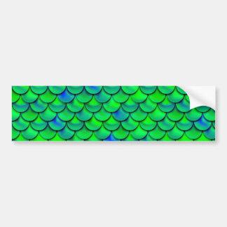 Autocollant De Voiture Échelles vert-bleu de Falln