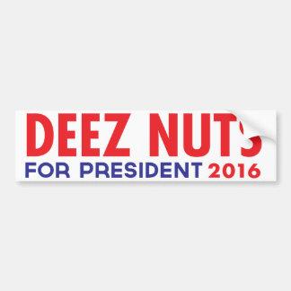 Autocollant De Voiture Écrous de Deez pour le président