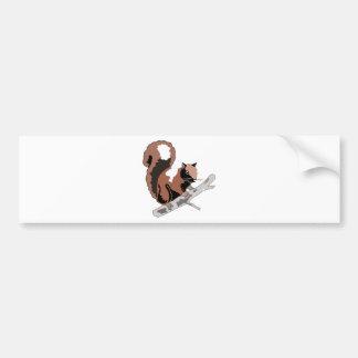 Autocollant De Voiture Écureuil en bois