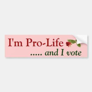 Autocollant De Voiture Électeur anti-avortement