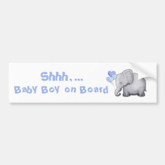 """Autocollant De Voiture Éléphant mignon de ballon de coeur de """"bébé à"""