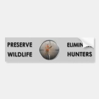 Autocollant De Voiture Éliminez les chasseurs