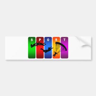Autocollant De Voiture Emblème multicolore de parachutisme