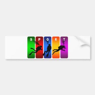 Autocollant De Voiture Emblème multicolore de plongée à l'air