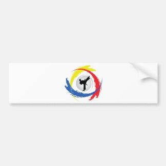 Autocollant De Voiture Emblème tricolore de karaté