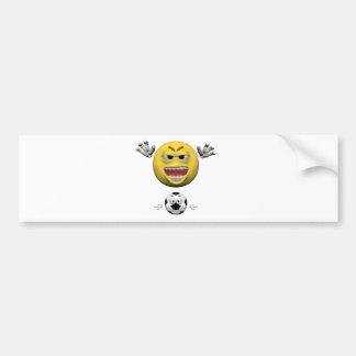 Autocollant De Voiture Émoticône jaune ou smiley du football
