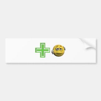 Autocollant De Voiture Émoticône malade jaune ou smiley