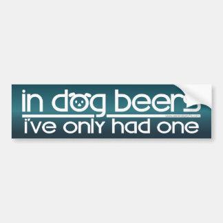 Autocollant De Voiture En bières de chien….