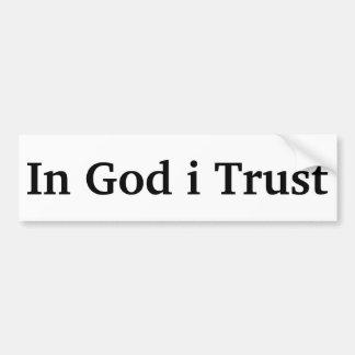 Autocollant De Voiture En confiance de Dieu i