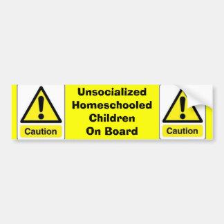 Autocollant De Voiture Enfants de Homeschooled de précaution