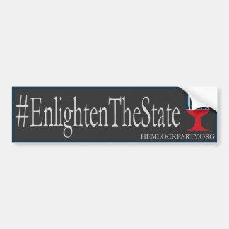 Autocollant De Voiture #EnlightenTheState - obscurité