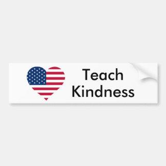 Autocollant De Voiture Enseignez la gentillesse Etats-Unis