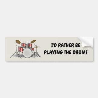Autocollant De Voiture Ensemble illustré de tambour