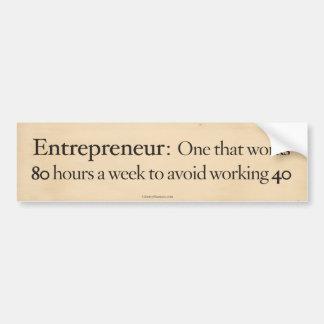 Autocollant De Voiture Entrepreneur