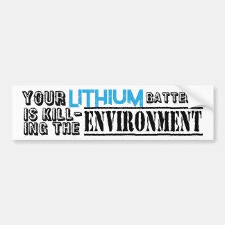 Autocollant De Voiture Environnement de batteries au lithium
