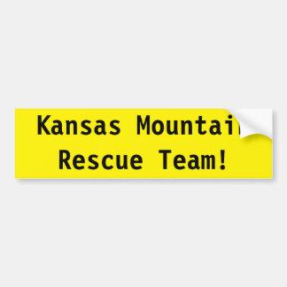 Autocollant De Voiture Équipe de secours de montagne du Kansas !
