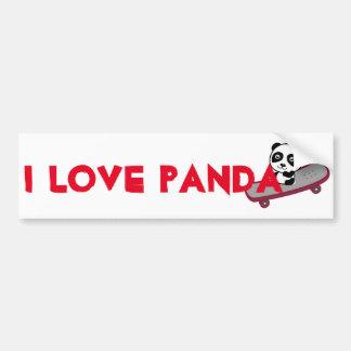 Autocollant De Voiture Équitation de panda sur la planche à roulettes