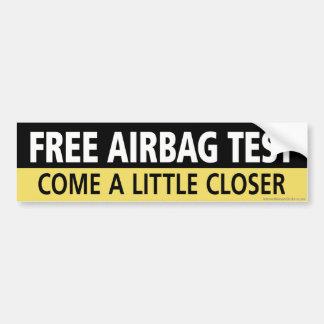 Autocollant De Voiture Essai libre d'airbag