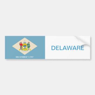 Autocollant De Voiture État de drapeau de Delaware