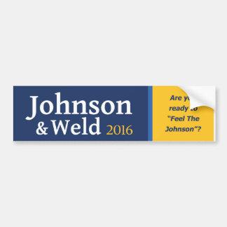 """Autocollant De Voiture Êtes-vous prêts """"à sentir Johnson"""" ?"""