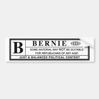 Autocollant De Voiture Étiquette de mise en garde de ponceuses de Bernie
