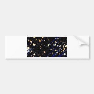 Autocollant De Voiture Étoiles bleues d'effet de velours