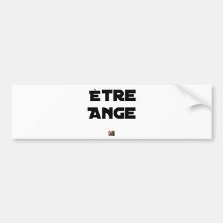 Autocollant De Voiture ÊTRE ANGE - Jeux de mots - Francois Ville