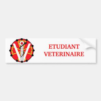 Autocollant De Voiture Etudiant vétérinaire ENVT