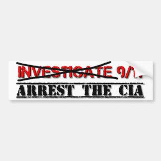 Autocollant De Voiture Étudiez 9/11 : Arrêtez la CIA