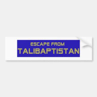 Autocollant De Voiture Évasion de jaune de Talibaptistan