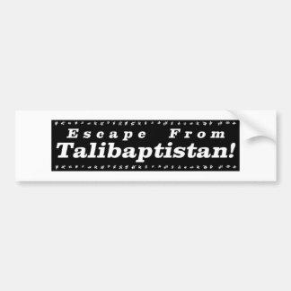 Autocollant De Voiture Évasion de noir de Talibaptistan