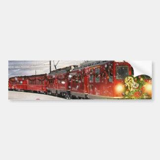 Autocollant De Voiture Express de Pôle Nord - train de Noël - train de