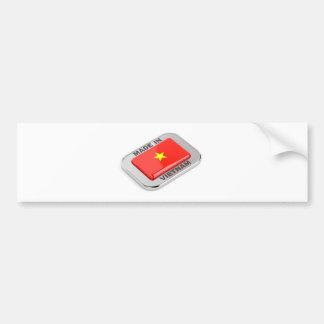Autocollant De Voiture Fait dans l'insigne brillant du Vietnam