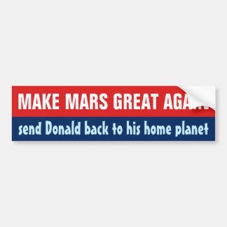 Autocollant De Voiture Faites à Mars grand encore anti Donald Trump drôle