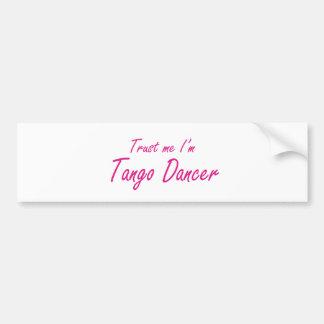 Autocollant De Voiture Faites- confiancemoi, je suis danseur de tango