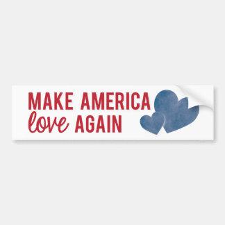 Autocollant De Voiture Faites l'Amérique aimer encore l'adhésif pour